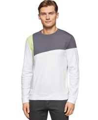 Calvin Klein Jacquard Crew Neck Long Sleeveknit Shirt