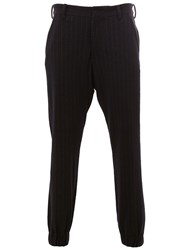 08Sircus Pinstripe Trousers Blue
