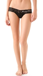 Hanky Panky Maid Of Honor Low Rise Thong Black Clear Crystals