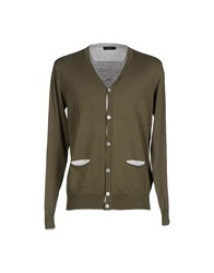 Seventy By Sergio Tegon Knitwear Cardigans Men Military Green