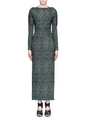 Azzedine Alaia 'Asteroide' Shatter Squiggle Jacquard Knit Dress Green