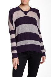 L.A.M.B. Mohair Striped Cocoon Crew Sweater Multi