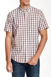 Timberland Check Print Short Sleeve Regular Fit Shirt Brown