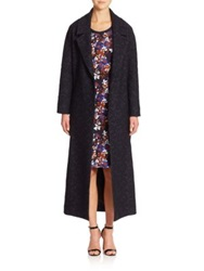 Mother Of Pearl Blair Floral Wrap Coat Navy
