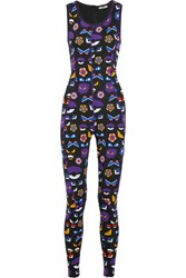 Fendi Wonder Printed Stretch Jersey Bodysuit Purple