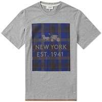 Coach Plaid Print Tee Grey