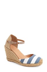 Women's Caslon 'Blaire' Espadrille Wedge Blue White Stripes