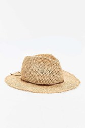 Rosin Straw Wide Brim Fedora Tan