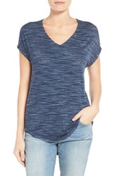 Women's Gibson V Neck Short Sleeve Tee Navy
