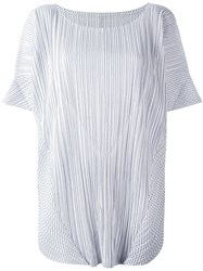 Issey Miyake Pleats Please By Pleated T Shirt White