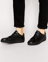 Selected Homme Dylan Leather Trainers Black