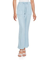 Andrea Jovine Chambray Drawstring Pants Medium Blue