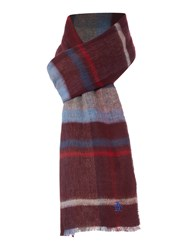 Original Penguin Reversible Plaid Scarf Red