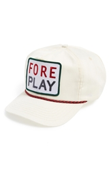 G Fore Logo Strapback Hat Ivory Green Red