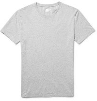 Gant Rugger Melange Cotton Jersey T Shirt Light Gray