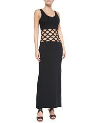 Jean Paul Gaultier Cutout Waist Cotton Maxi Coverup