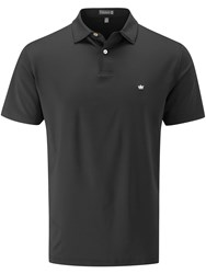 Peter Millar Solid Stretch Polo Black
