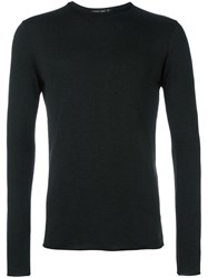 Transit Raw Edge Jumper Black