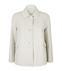 Max Mara Maxmara Tempra Wool Angora Jacket Female Light Grey