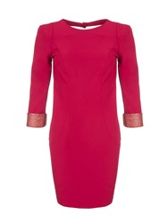 Relish Dress With Back Cutout Red