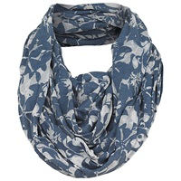 Fat Face Floral Burnout Snood Navy