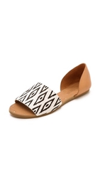 Madewell The Slim Thea Sandals Diamond Ikat Print