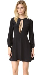 Amanda Uprichard Tie Front Mini Dress Black