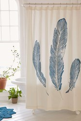 Plum And Bow Plume Shower Curtain Blue