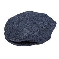 Dents Mens Flat Cap In Abraham Moon Tweed Denim