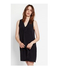 Equipment Black Phaedra Tie Neck Silk Dress