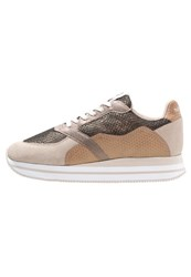 No Name Eden Street Trainers Ivory Gold Beige