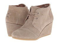 Toms Desert Wedge Taupe Suede Women's Wedge Shoes