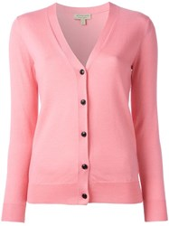Burberry Elbow Patch Cardigan Pink Purple