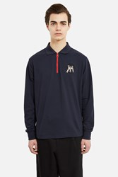 J.W.Anderson Tools Long Sleeve Zipper Polo Navy