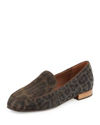 Elana Leopard Glitter Loafer Bronze Dark Brown Donald J Pliner