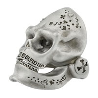 Snake Bones Hinged Jaw Skull Ring In Sterling Silver