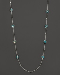 Ippolita Sterling Silver Rock Candy Mini Lollipop And Ball Necklace In Bronze Turquoise 38