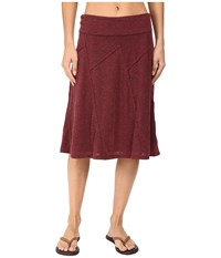 Prana Daphne Skirt Burgundy Women's Skirt