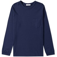 Nanamica Long Sleeve Pocket Tee Blue