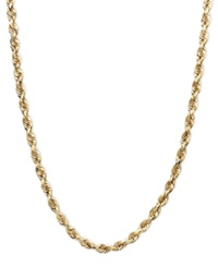 Macy's 14K Gold Necklace 20' Seamless Rope