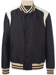 Ports 1961 Color Block Bomber Jacket Black