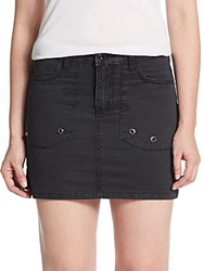 Zadig And Voltaire Jivron Denim Mini Skirt Black