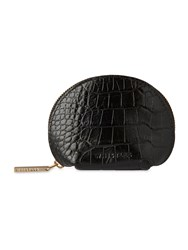 Whistles Structured Croc Coin Purse Black