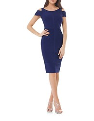 Js Collections Cold Shoulder Bandage Dress Lapis