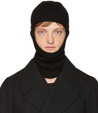 Rick Owens Black Knit Ski Mask