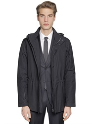 Z Zegna Merino Wool And Ripstop Field Jacket