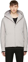 Attachment Grey Down Short Jacket