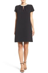 Donna Ricco Women's Embellished Stretch Woven Trapeze Dress