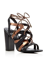 Charles By Charles David Greensboro Caged High Heel Sandals Compare At 129 Black Brown