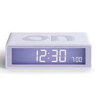 Lexon Flip Coloured Clock White